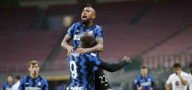 Vidal Lukaku Inter esultanza lapresse 2020 640x300