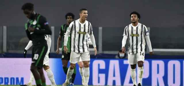 Ronaldo esultanza Juventus Ferencvaros lapresse 2020 640x300