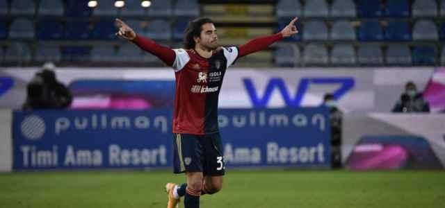 Riccardo Sottil Cagliari esultanza lapresse 2020 640x300