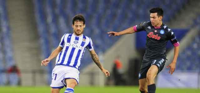 David Silva Lozano Real Sociedad Napoli lapresse 2020 640x300