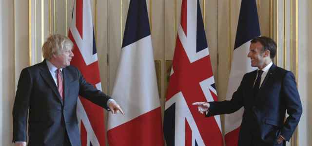 Macron e Boris Johnson