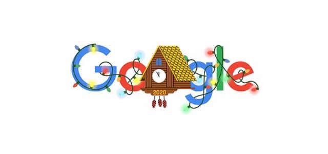 Il 'doodle' per la Notte di Capodanno