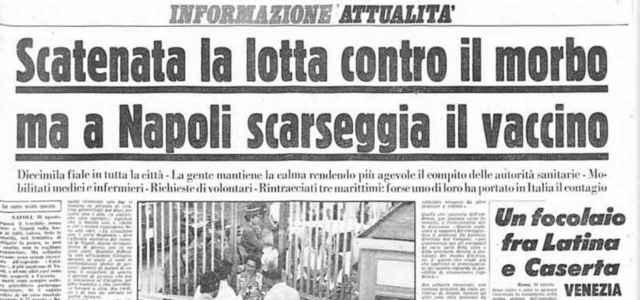 Il colera del 1973 a Napoli in un quotidiano dell'epoca