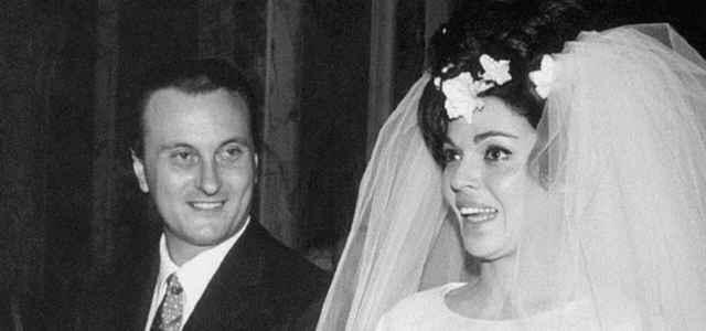 Una foto del matrimonio di Tata Giacobetti e Valeria Fabrizi