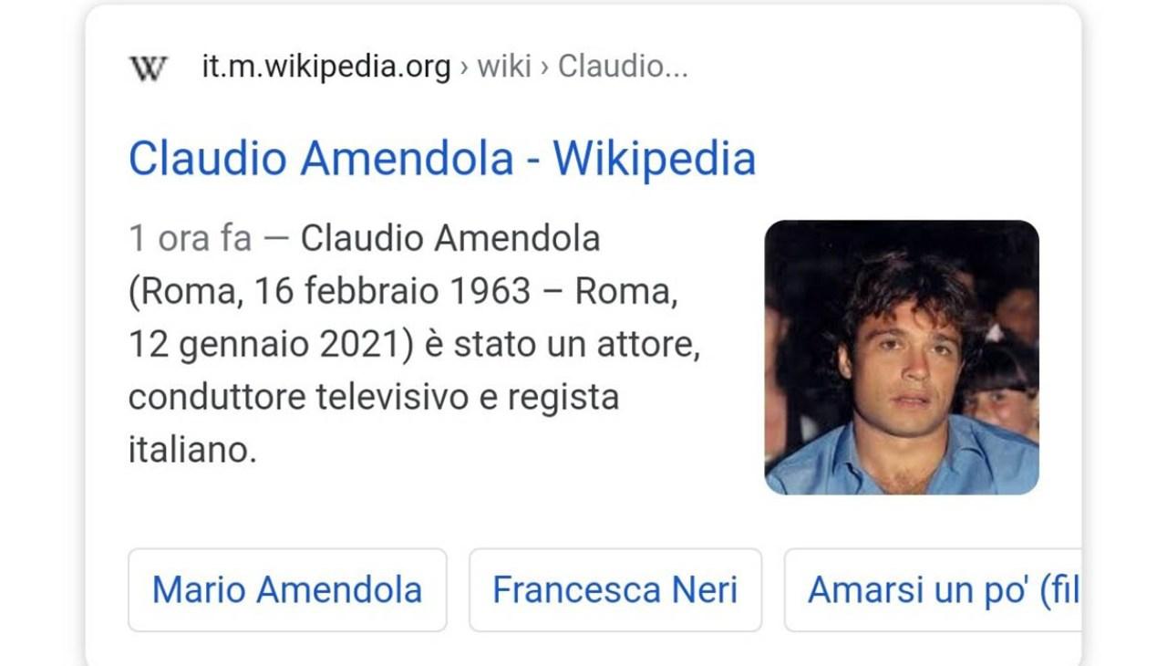 """""""Claudio Amendola è morto""""/ Fake news su Wikipedia ..."""