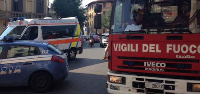 L'incendio di una palazzina a Roma