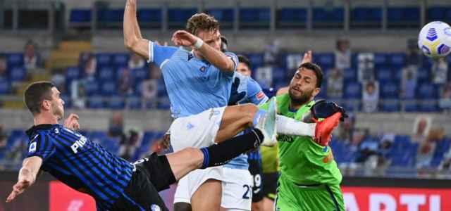 Immobile Sportiello Gosens Atalanta Lazio lapresse 2021 640x300