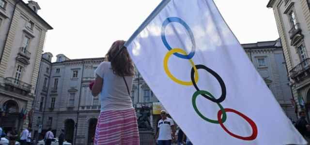 Olimpiadi bandiera cerchi lapresse 2021 640x300