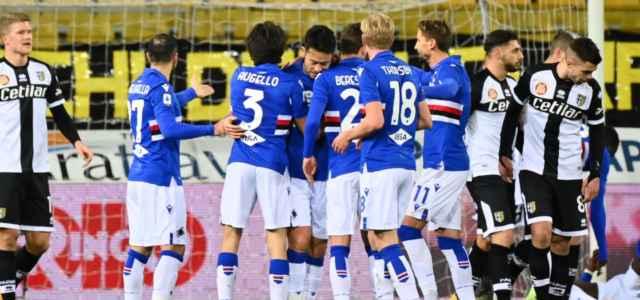 Sampdoria esultanza Parma lapresse 2021 640x300