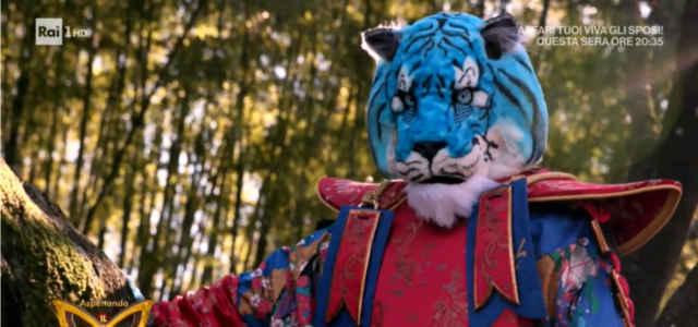 La Tigre Azzurra de 'Il Cantante Mascherato'