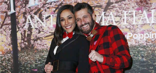 Juliana Moreira in compagnia del marito Edoardo Stoppa