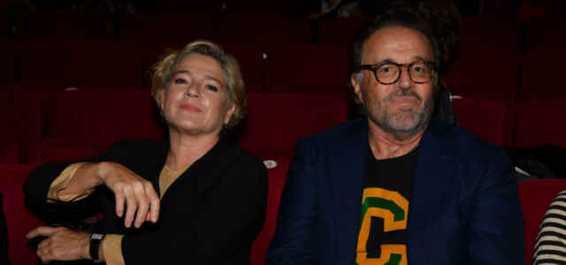 Christian De Sica in compagnia della moglie Silvia Verdone