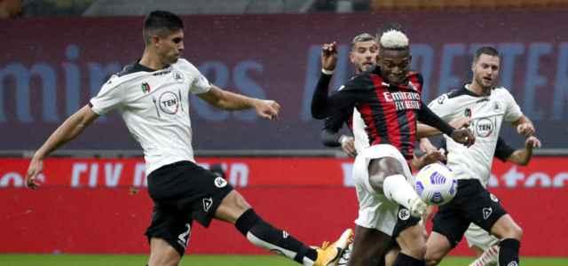 Rafael Leao gol Milan Spezia lapresse 2021 640x300