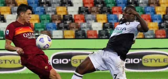 Okaka Ibanez Udinese Roma lapresse 2021 640x300