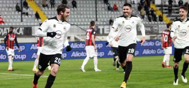 Simone Bastoni Spezia Milan gol lapresse 2021 640x300