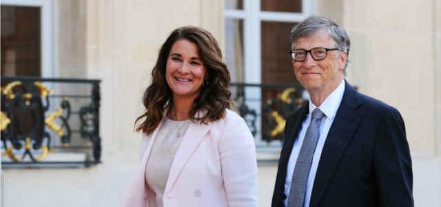 Bill Gates in compagnia della moglie Melinda Gates