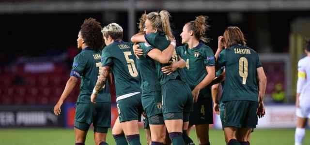 Italia donne verde gruppo gol lapresse 2021 640x300