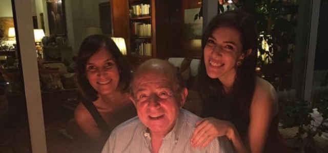 Giancarlo Magalli con le figlie