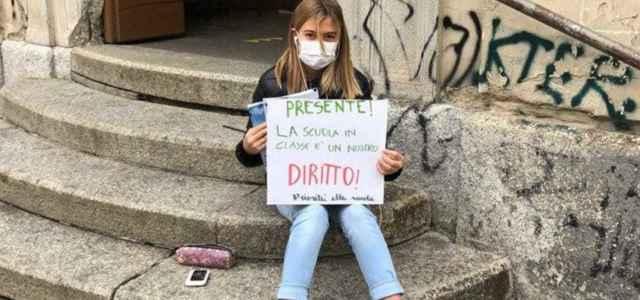 Anita Iacovelli, la sua protesta contro la Dad