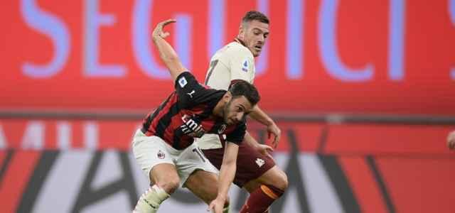 Calhanoglu Veretout Milan Roma lapresse 2021 640x300