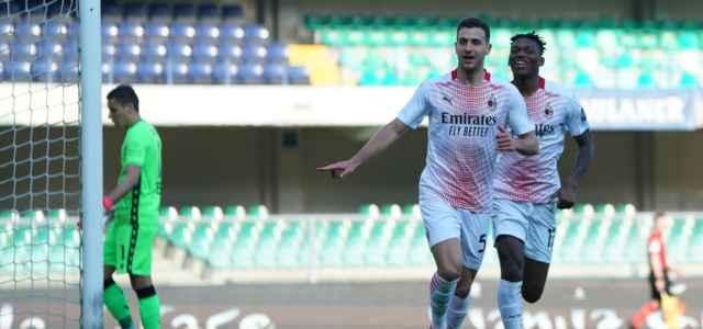 Dalot gol Milan Verona lapresse 2021 640x300