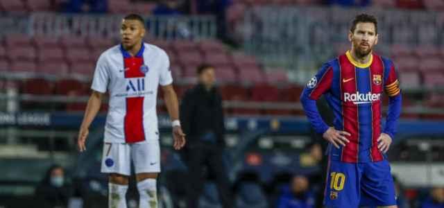 Messi Mbappe Barcellona Psg lapresse 2021 640x300