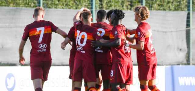 Roma Primavera gruppo gol lapresse 2021 640x300
