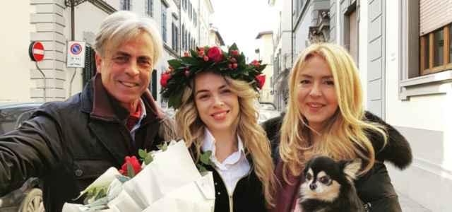 Drusilla Gucci con i genitori Uberto e Stefania