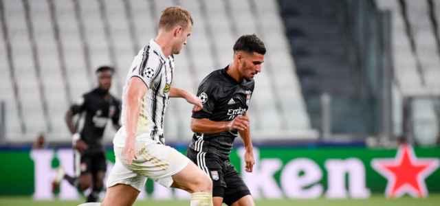 De Ligt Aouar Juventus Lione lapresse 2021 640x300