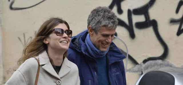 Vittoria Puccini in compagnia del fidanzato Fabrizio Lucci