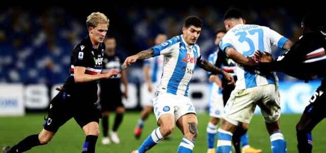 Di Lorenzo Petagna Thorsby Napoli Sampdoria lapresse 2021 640x300
