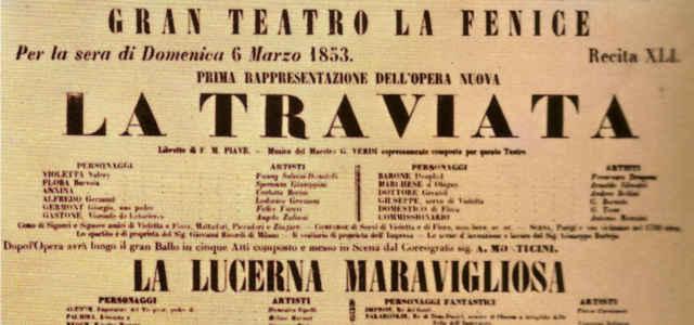 'La Traviata': il manifesto originale della prima assoluta