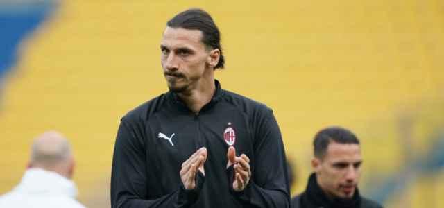 Zlatan Ibrahimovic Milan applauso lapresse 2021 640x300