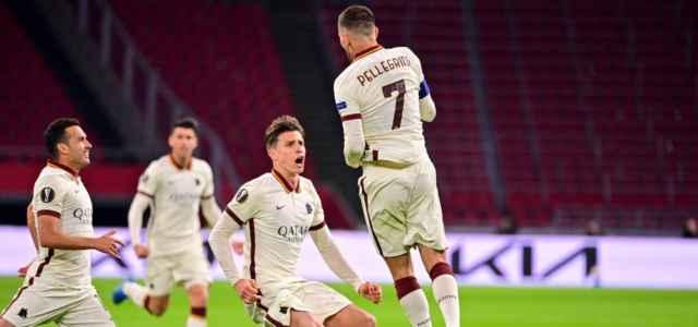 Pellegrini Roma Ajax esultanza lapresse 2021 640x300