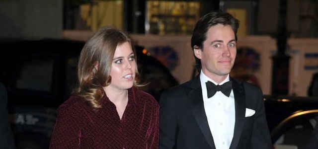 La principessa Beatrice in compagnia del marito Edoardo Mapelli Mozzi