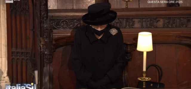 regina elisabetta al funerale del principe filippo 640x300