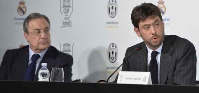 Florentino Perez Andrea Agnelli lapresse 2021 640x300
