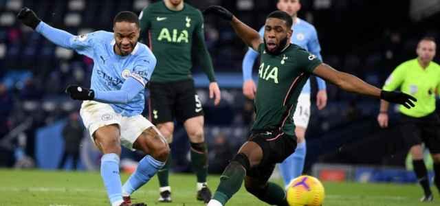 Sterling Tanganga Manchester City Tottenham lapresse 2021 640x300