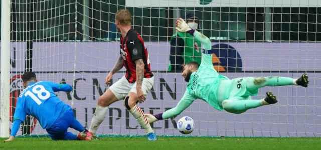 Raspadori gol Milan Sassuolo lapresse 2021 640x300