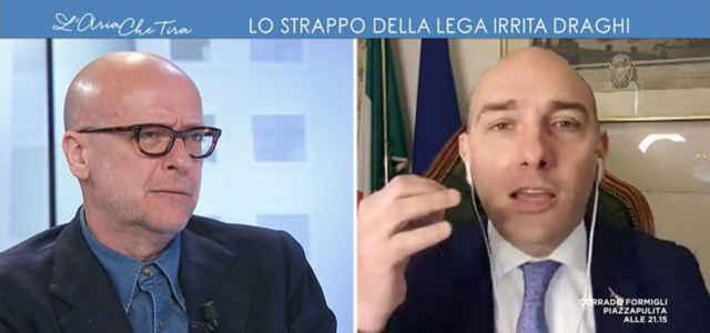 """La lite tra Roncone e Morelli a """"L'Aria che tira"""""""