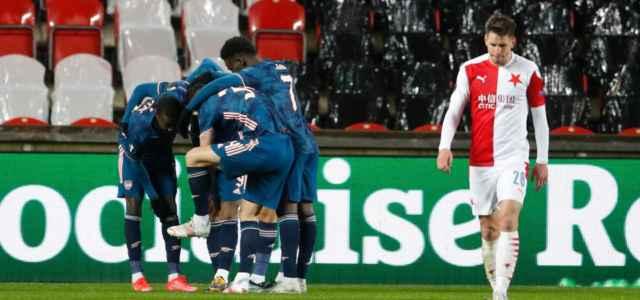 Arsenal esultanza Europa League lapresse 2021 640x300
