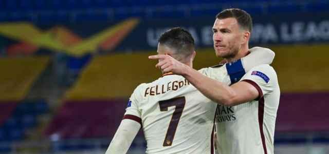 Pellegrini Dzeko Roma Europa League lapresse 2021 640x300