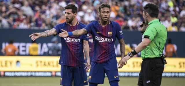 Messi Neymar Barcellona arbitro lapresse 2021 640x300