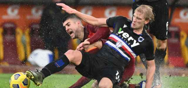 Mancini Thorsby Roma Sampdoria lapresse 2021 640x300