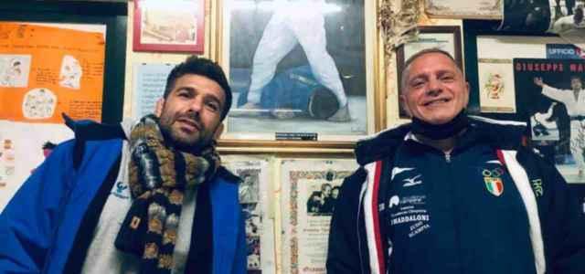 Gianni Maddaloni in compagnia di suo figlio Marco