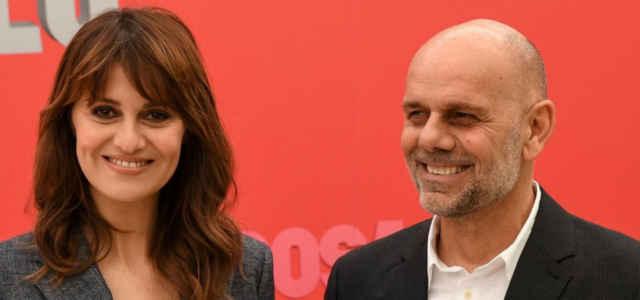 Paola Cortellesi in compagnia del marito Riccardo Milani
