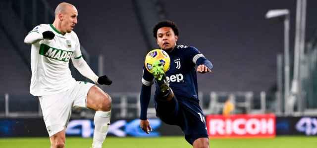 McKennie Chiriches Juventus Sassuolo lapresse 2021 640x300