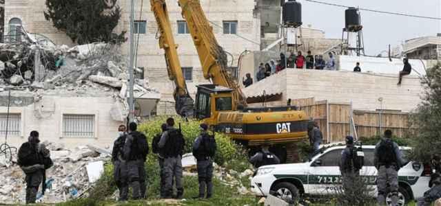 Sgombero e demolizione di alcune case palestinesi a Gerusalemme