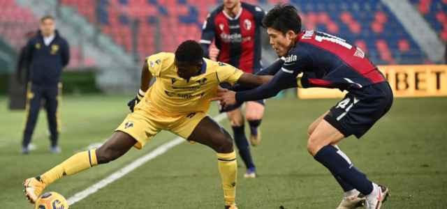 Ebrima Colley Tomiyasu Bologna Verona lapresse 2021 640x300