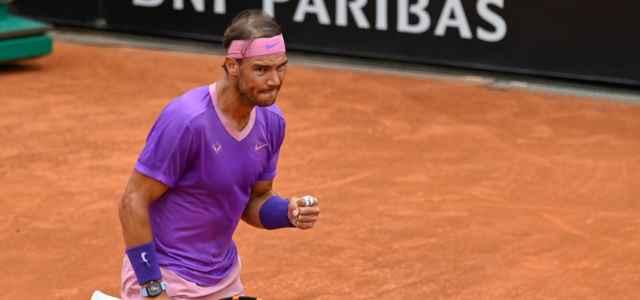 Rafa Nadal esultanza Roma lapresse 2021 640x300